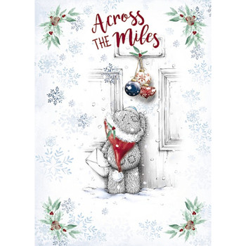 Across The Miles Tatty Teddy Handing Baubles Design Christmas Card