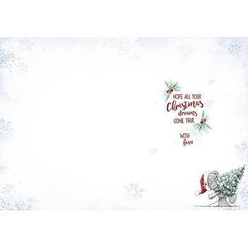 To a Brilliant Godson Tatty Teddy Snowy Christmas Card