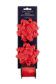 Deluxe Red Double Bow Christmas Decoration