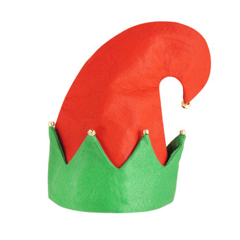 Christmas Elf Hat With Bells For Adult