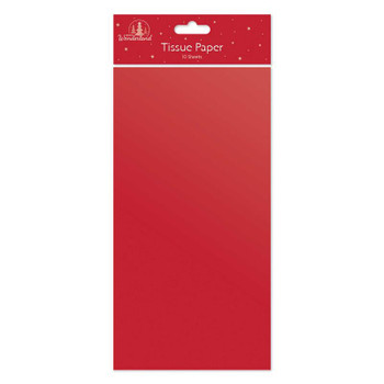Pack of 10 Christmas Red Tissue Paper Sheets