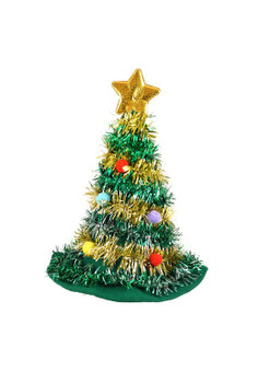 Christmas Tree Design Adult Hat with Star