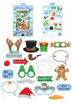 Pack of 20 Pieces Christmas Photo Props