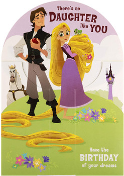 3D Sculpture Birthday Card for Daughter Disney Tangled Paper WOW Design