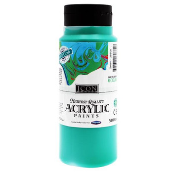 Green Acrylic Paint 500ml by Icon Art