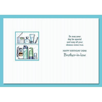 Brother in law Birthday Greetings Card