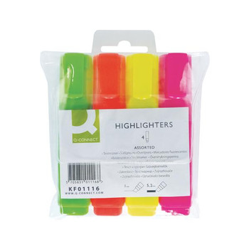 Pack of 4 Assorted Highlighter Pens