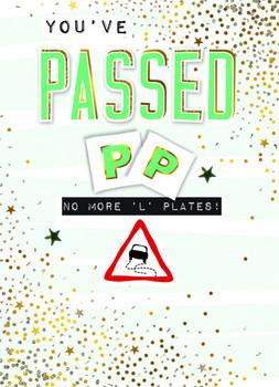 L Test Congrats PP Plates Driving Test Congratulations Card