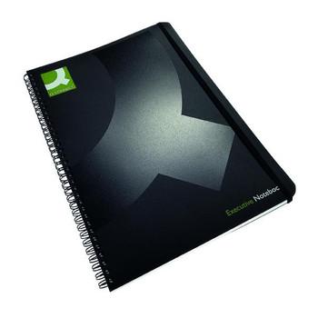 Pack of 3 A4 Polypropylene Black Wirebound Books