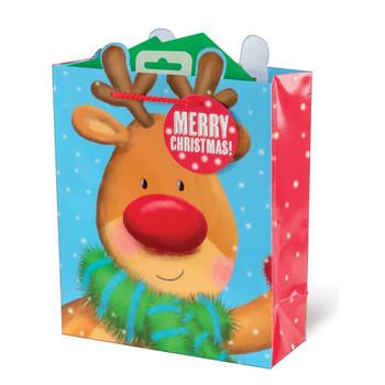 Christmas Reindeer Design Christmas Medium Gift Bag
