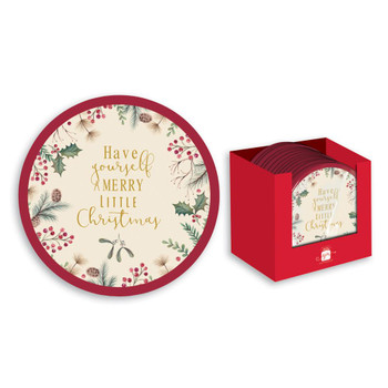 Pack of 8 Christmas Traditional Design Party Plates