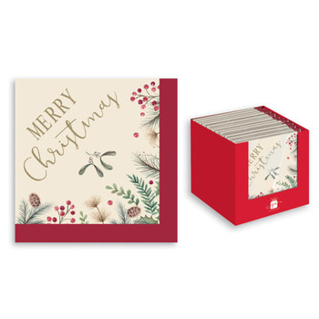 Pack of 20 Pieces Christmas Traditional Design Napkins