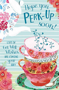 Hope You Perk Up Soon Get Well Card