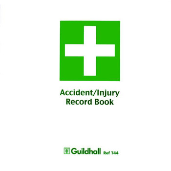 Pack of 5 Guildhall Accident and Injury Book Compliant with DPA