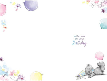 Bear With Cake Niece Birthday Card