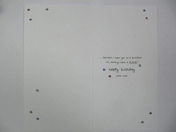 Brother Facts Text Birthday Card