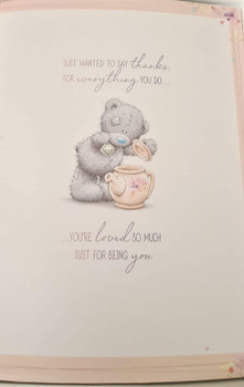 Amazing Mum Birthday Bear With Cake Boxed Large Greeting Card