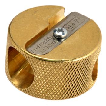 Pencil Sharpener Brass Double Hole Round