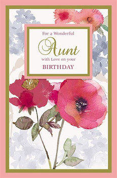 Aunt On Your Birthday Card With Love