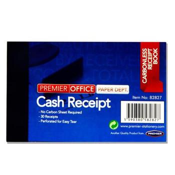 """4""""x2.5"""" Carbonless Duplicate Cash Receipt Book by Premier Office"""