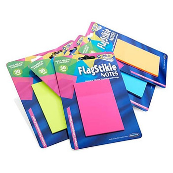 Pack of 30 Piece 50x76mm Flag Stikie Notes by Stik-Ie