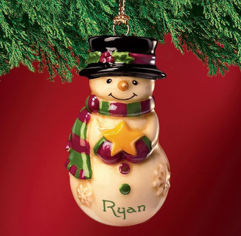 personalised Snowman - Christmas Decorations - Gift Ornament - Ryan