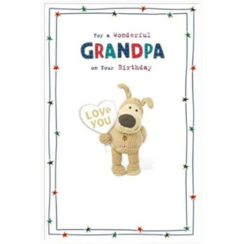 Boofle for a Wonderful Grandpa on Your Birthday Greetings Card