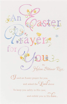 An Easter Prayer for You Sentimental Message Finished Easter Card