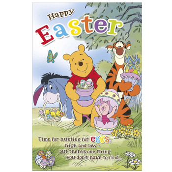 Disney Family Winnie The Pooh Easter Card
