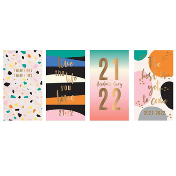 2021-2022 Slim Week To View Foil Finished Design Academic Diary