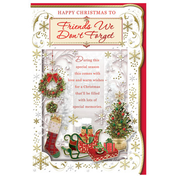 Friends We Don't Forget Special Memories Christmas Card