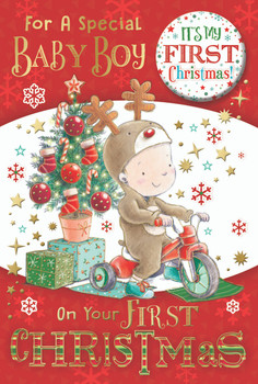For a Special Baby Boy First Christmas Card