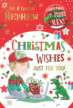 For a Special Nephew Just for You Christmas Card
