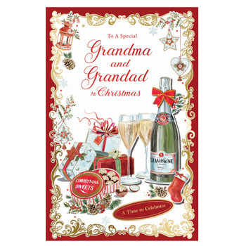 To a Special Grandma and Grandad Time to Celebrate Christmas Card