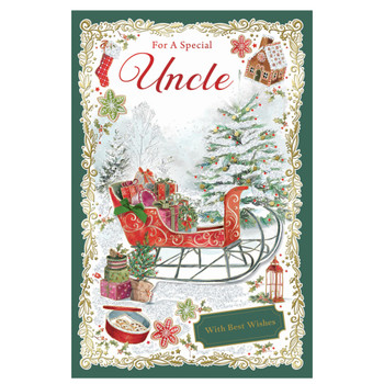 For a Special Uncle With Best Wishes Christmas Card