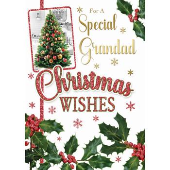 For a Special Grandad Xmas Tree Design Christmas Card