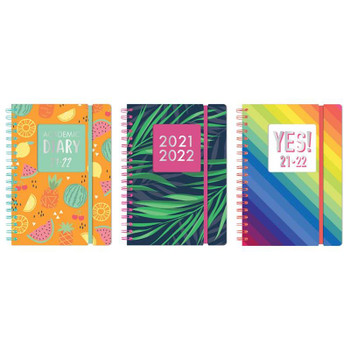 2021-2022 A5 Day a Page PP Cover Foil Finished Academic Wiro Diary