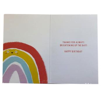 Fabulous Friend Rainbow Design Birthday Card