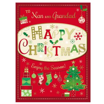 To Nan and Grandad Enjoy The Season Christmas Card