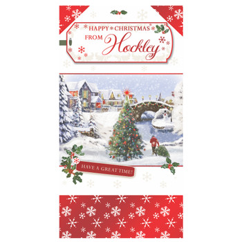 Have a Great Time Wishes From Hockley Christmas Card