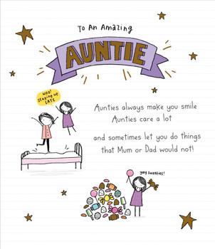 Auntie Birthday Card To An Amazing Auntie