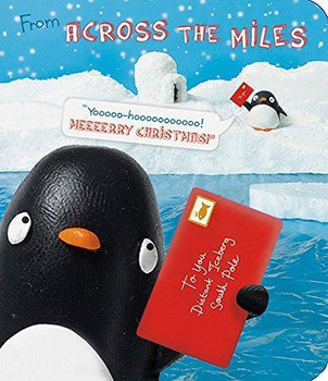 Across the Miles Cute Cool Penguin Christmas Greeting Card