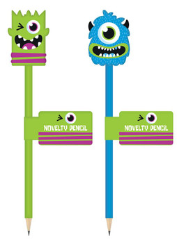 Monsters Design Novelty Pencil