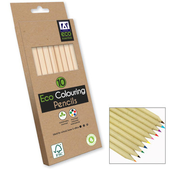 Pack of 10 ECO Colouring Pencils