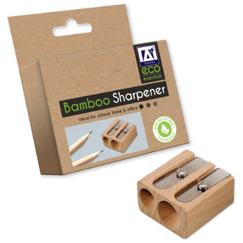 Bamboo Two Hole Sharpener