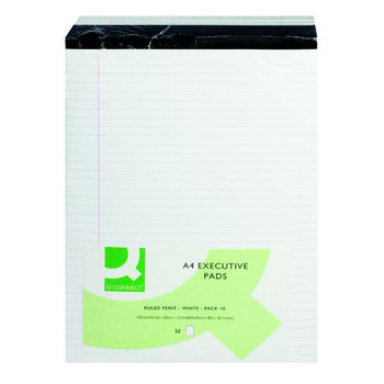 Pack of 10 A4 White 104 Pages Ruled Stitch Bound Executive Pad