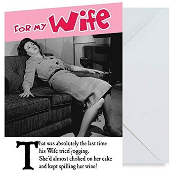 Wife Jogging Humour Birthday Greetings Card