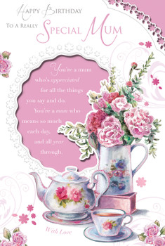 Happy Birthday To A Really Special Mum Celebrity Style Card