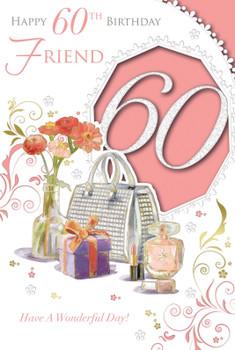 Happy 60th Birthday Wonderful Design Female Friend Celebrity Style Card