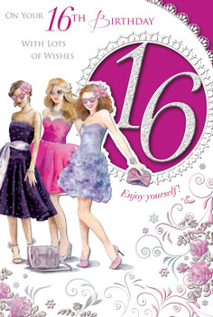On Your 16th Birthday Open Female Celebrity Style Card